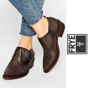 Frye • Billy Leather Ankle Bootie in Smoke Brown 8
